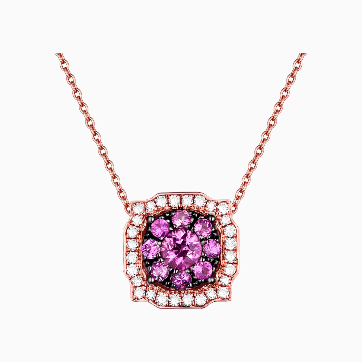 P22152PSA – 14K Rose Gold Diamond Pendant, 0.63 TCW