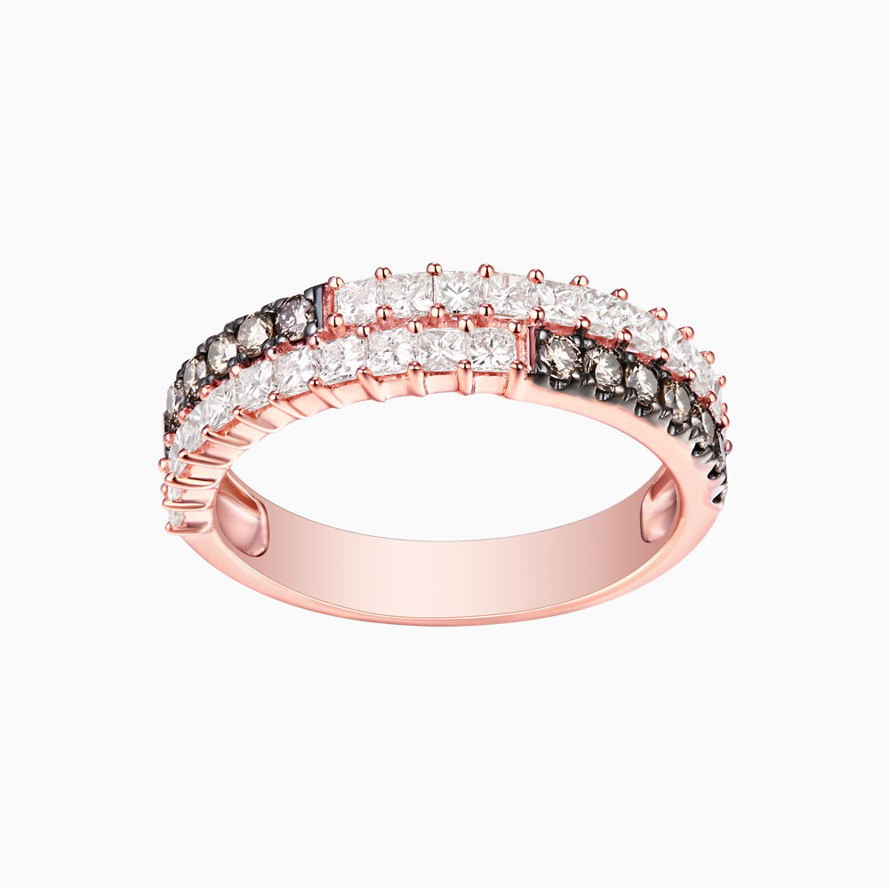 R24914WBR- 14K Rose Gold Diamond Ring, 1.20 TCW