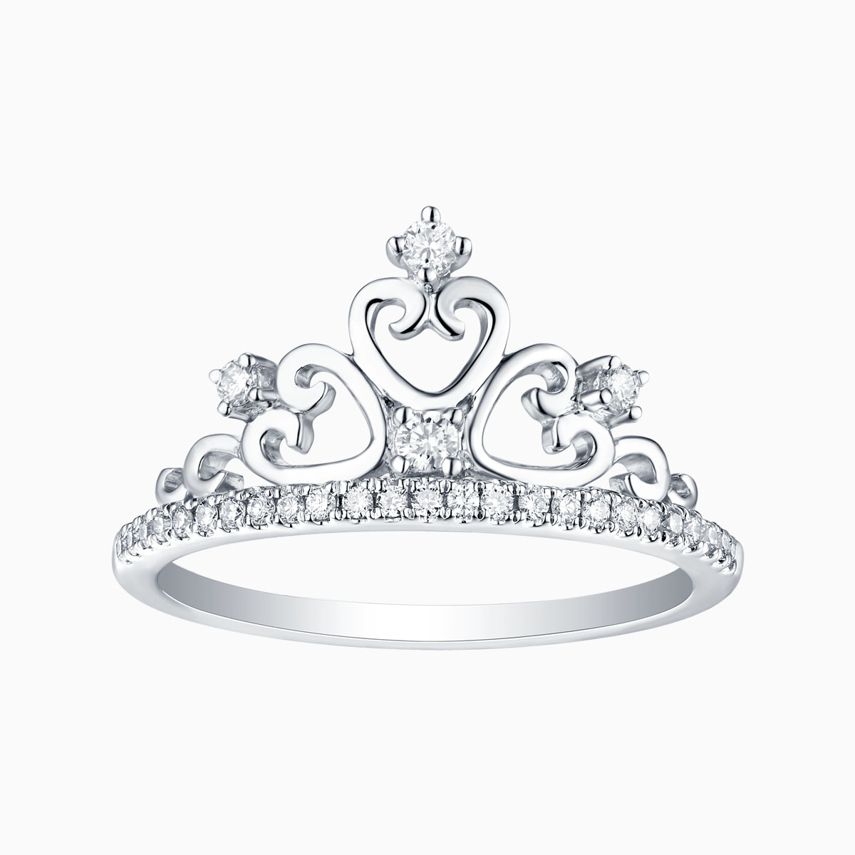 R26173WHT- 14K White Gold Diamond Ring, 0.19 TCW