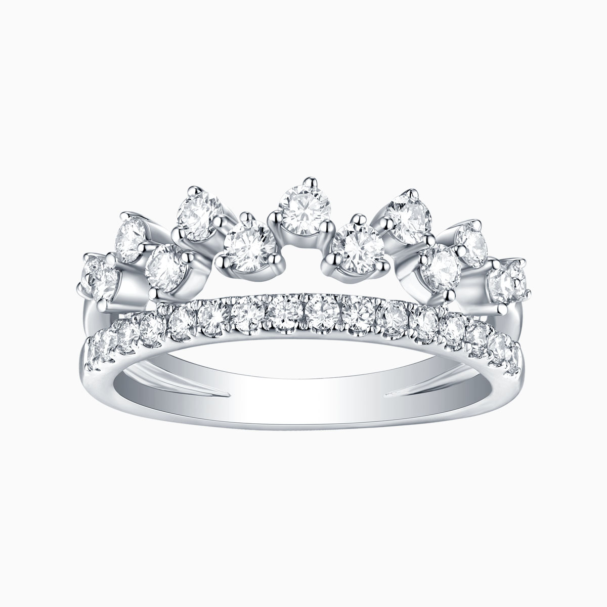 R26190WHT- 14K White Gold Diamond Ring, 0.80 TCW