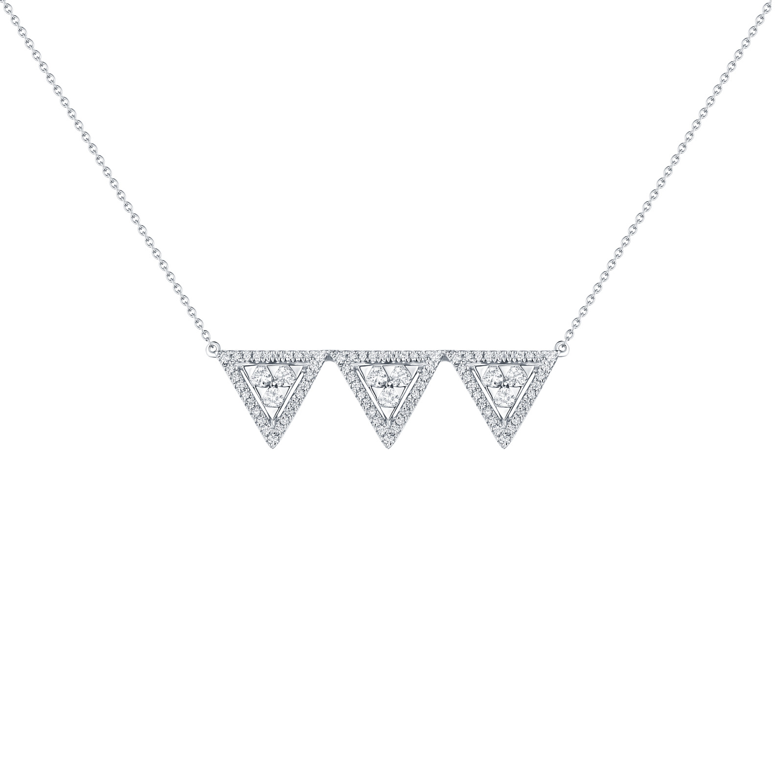 NL25105WHT- 14K White Gold Diamond Necklace, 0.46 TCW