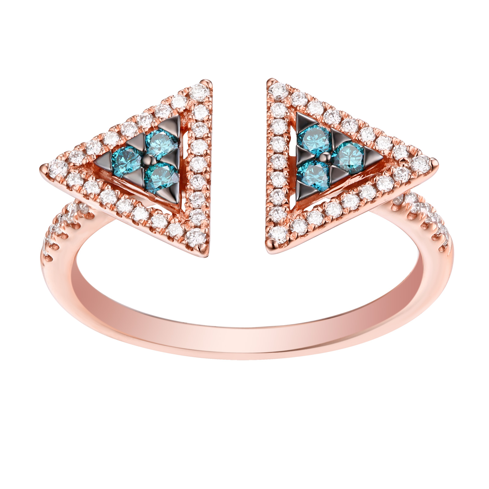 R25083ICE- 14K Rose Gold Diamond Ring, 0.36 TCW