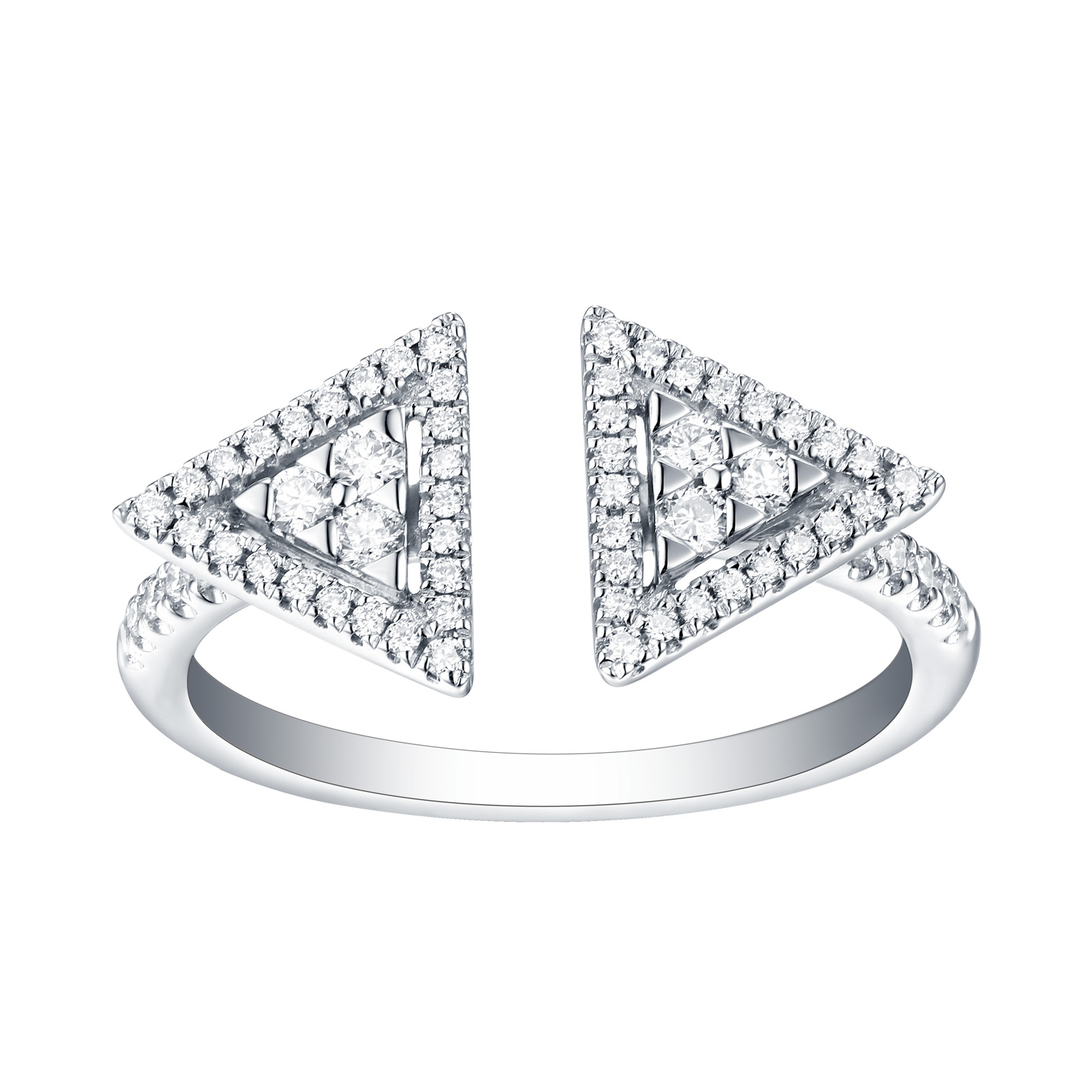 R25083WHT- 14K White Gold Diamond Ring, 0.33 TCW