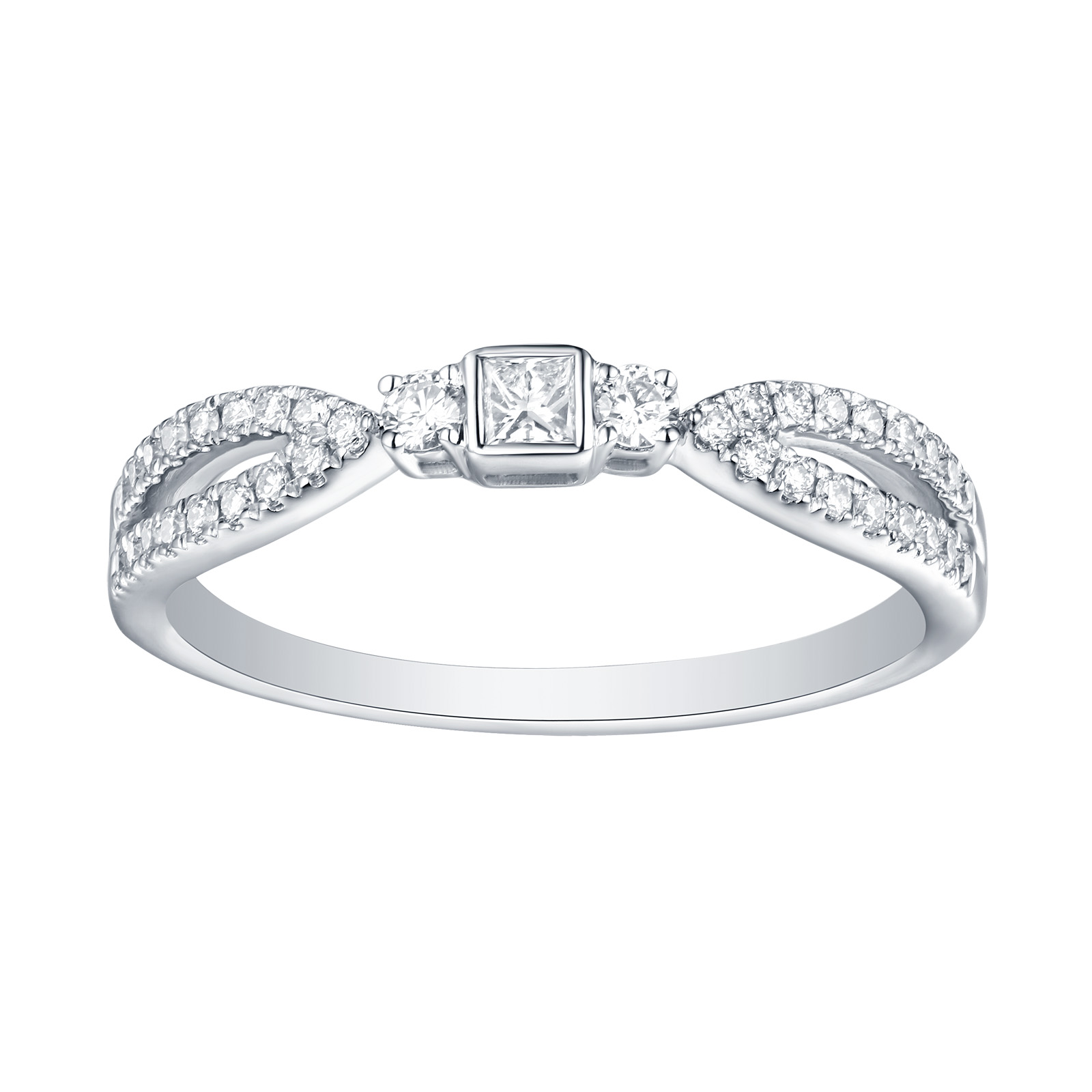 R25912WHT- 14K White Gold Diamond Ring, 0.27 TCW