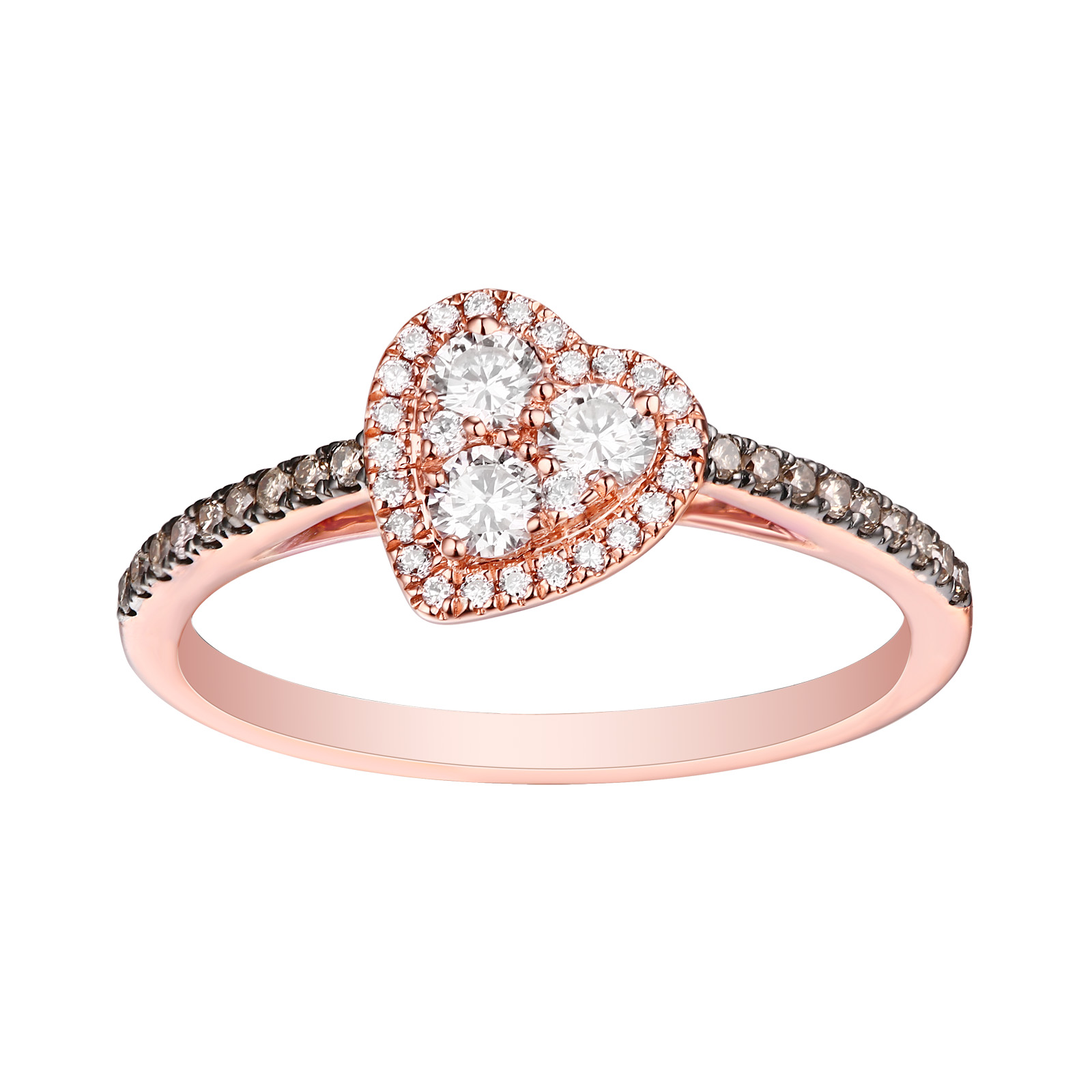 R25919WBR- 14K Rose Gold Diamond Ring, 0.44 TCW