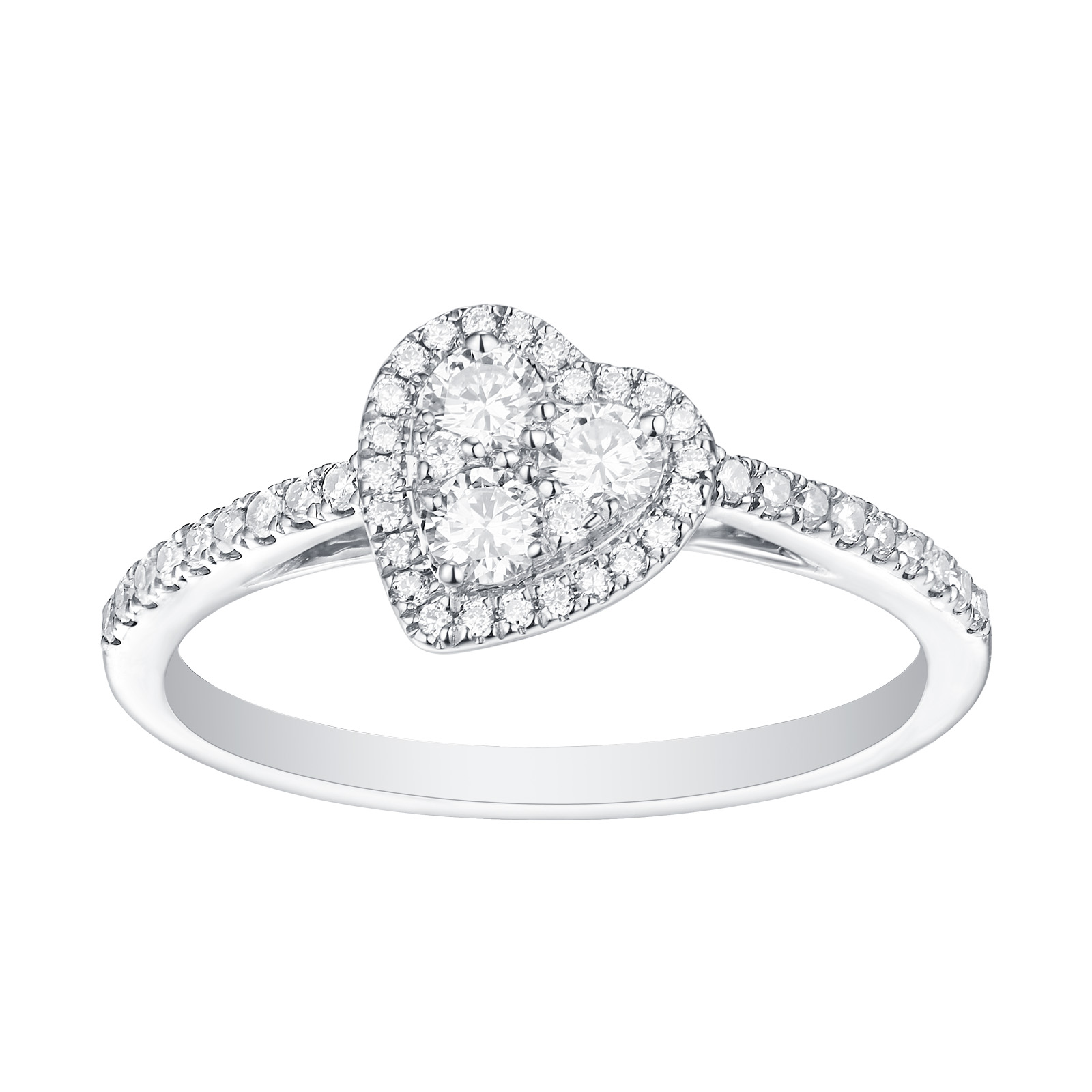 R25919WHT- 14K White Gold Diamond Ring, 0.44 TCW