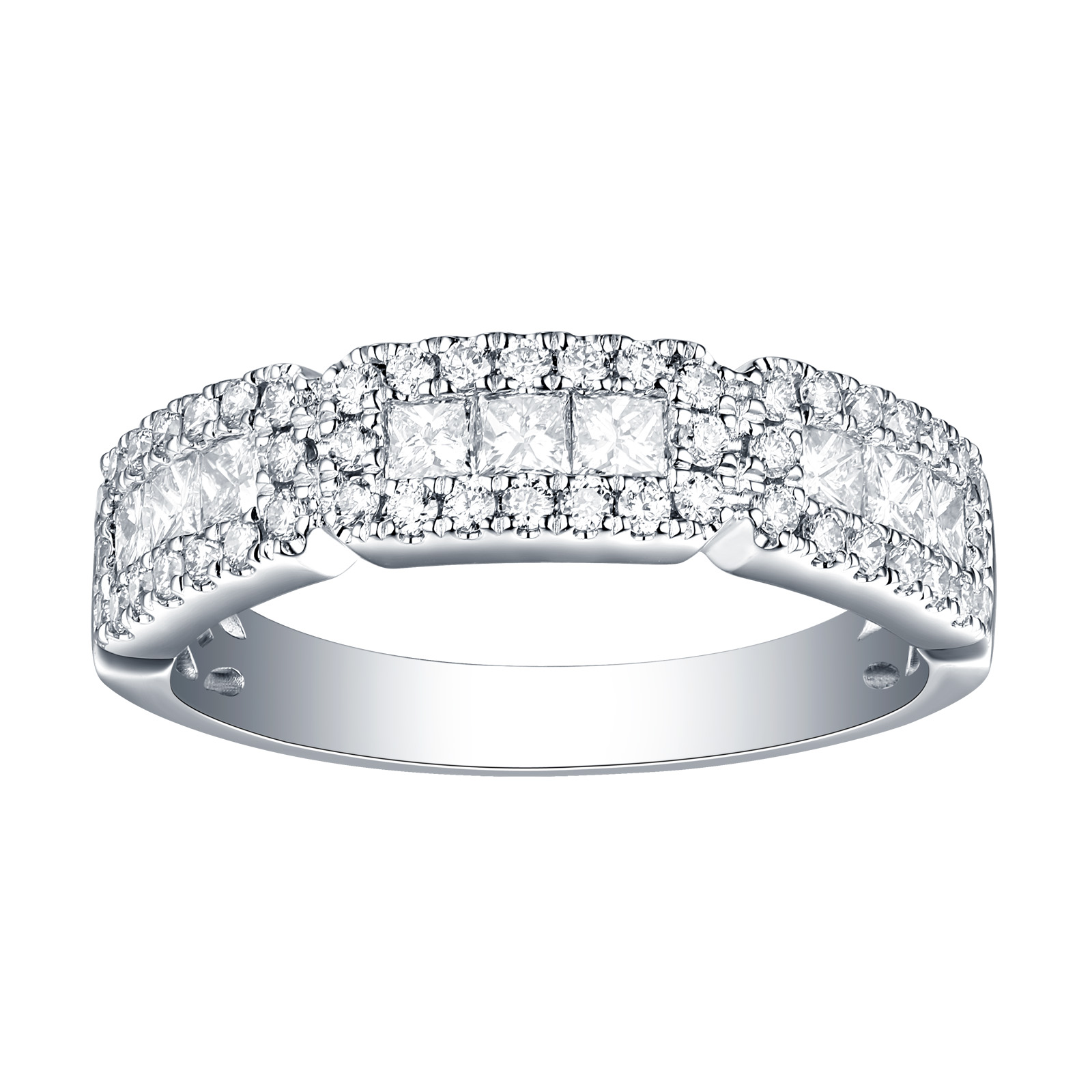 R26075WHT – 14K White Gold Diamond Ring, 0.86 TCW