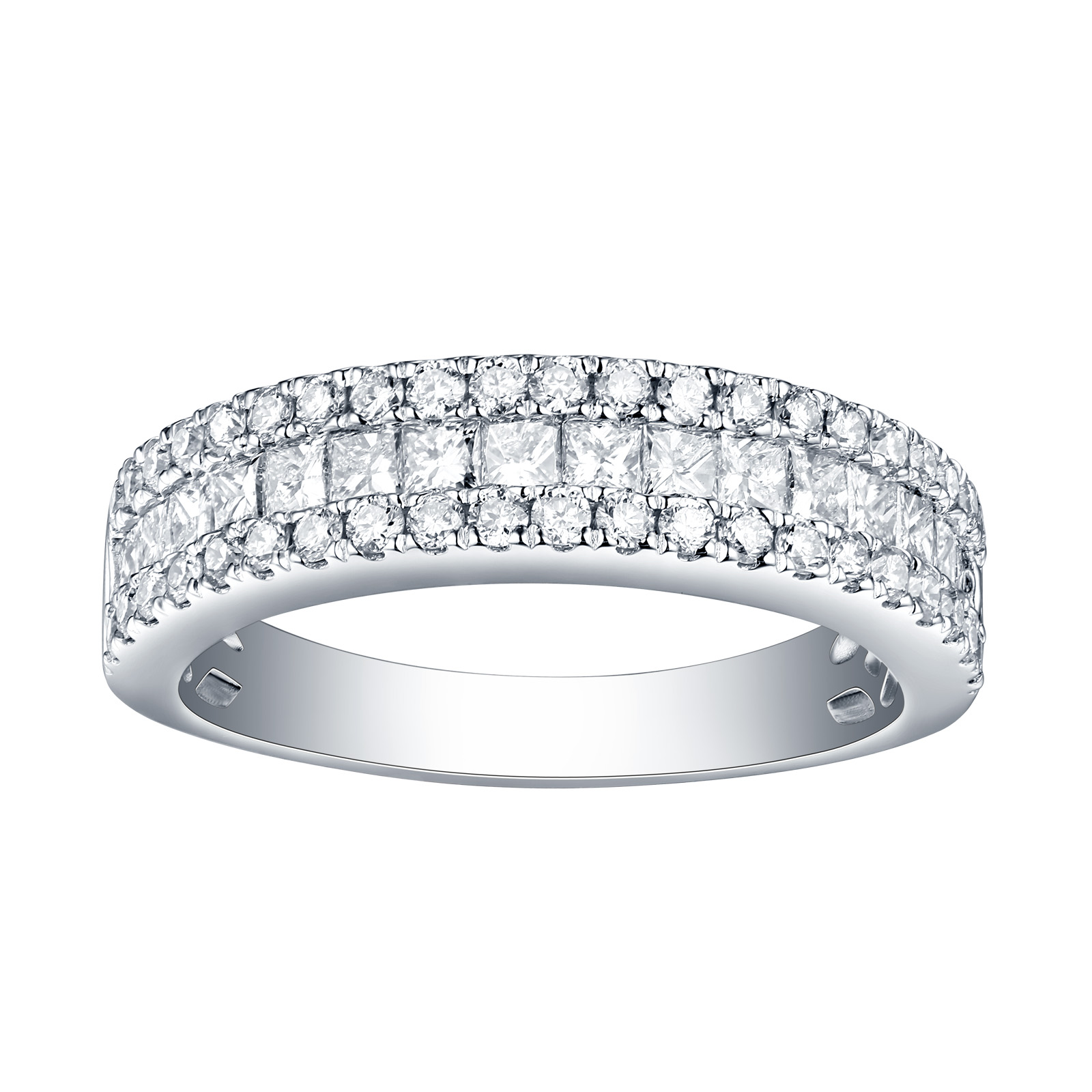 R26076WHT – 14K White Gold Diamond Ring, 1.12 TCW