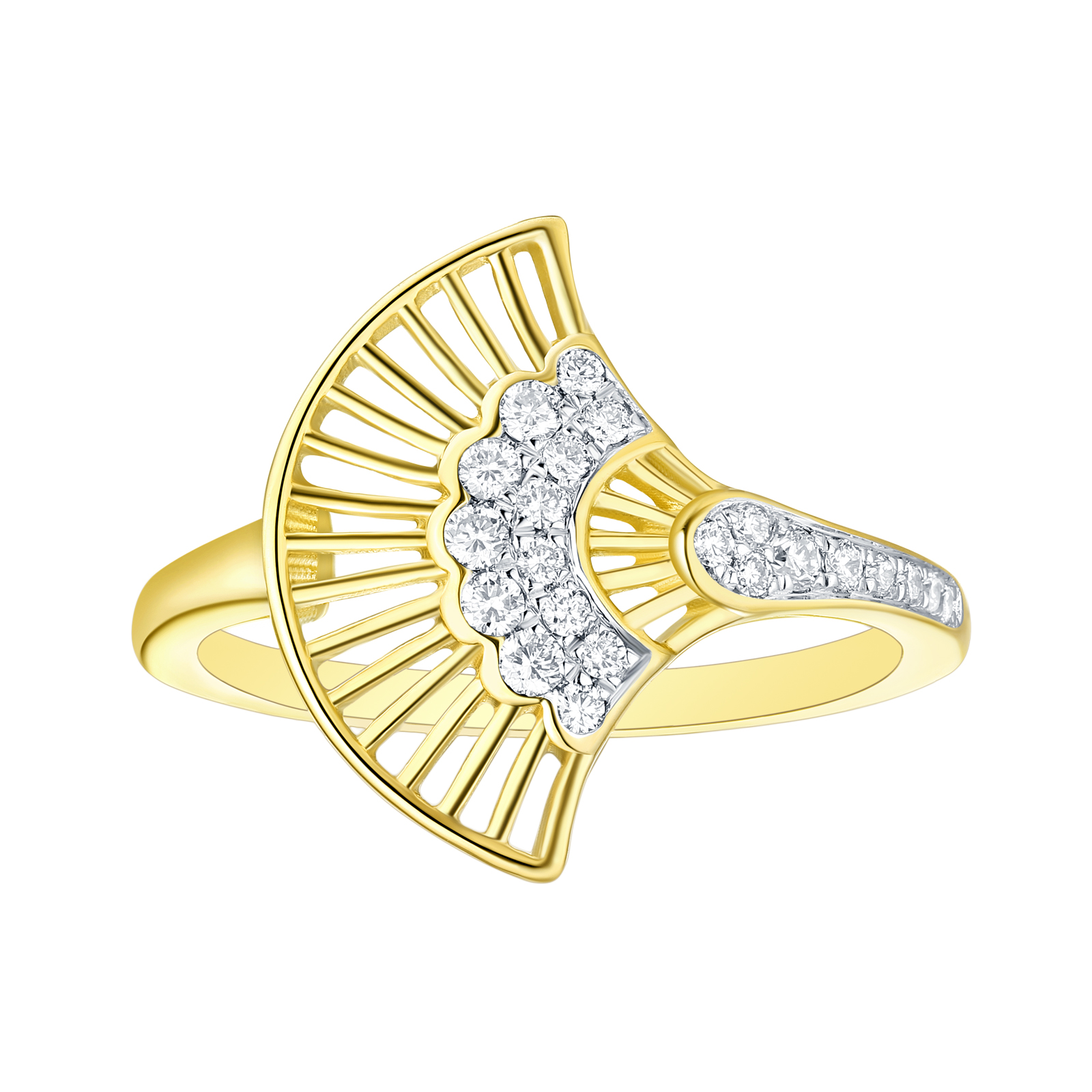 R29904WHT- 14K Yellow Gold Diamond Ring, 0.21 TCW