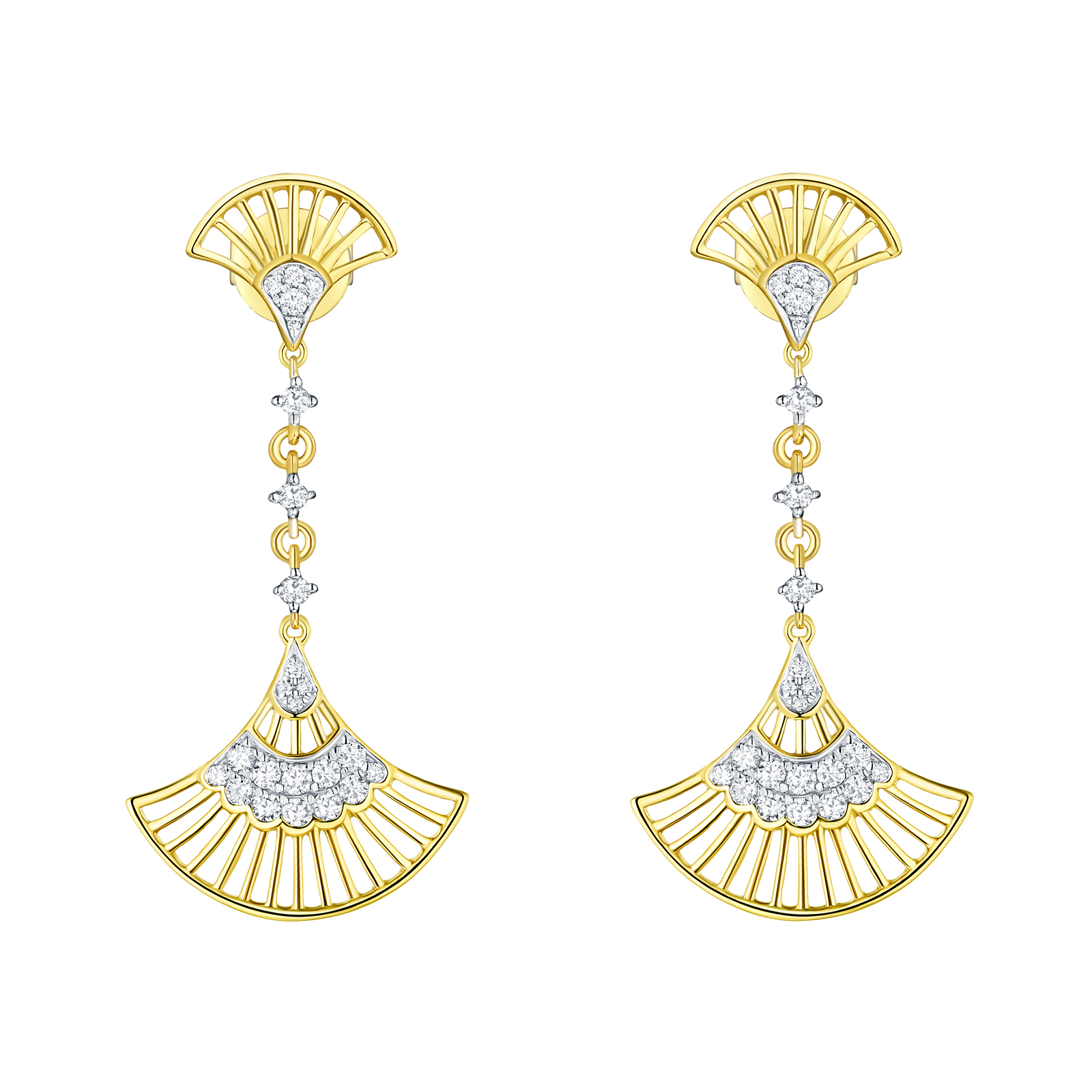 E29905WHT- 14K Yellow Gold Diamond Earring, 0.31 TCW