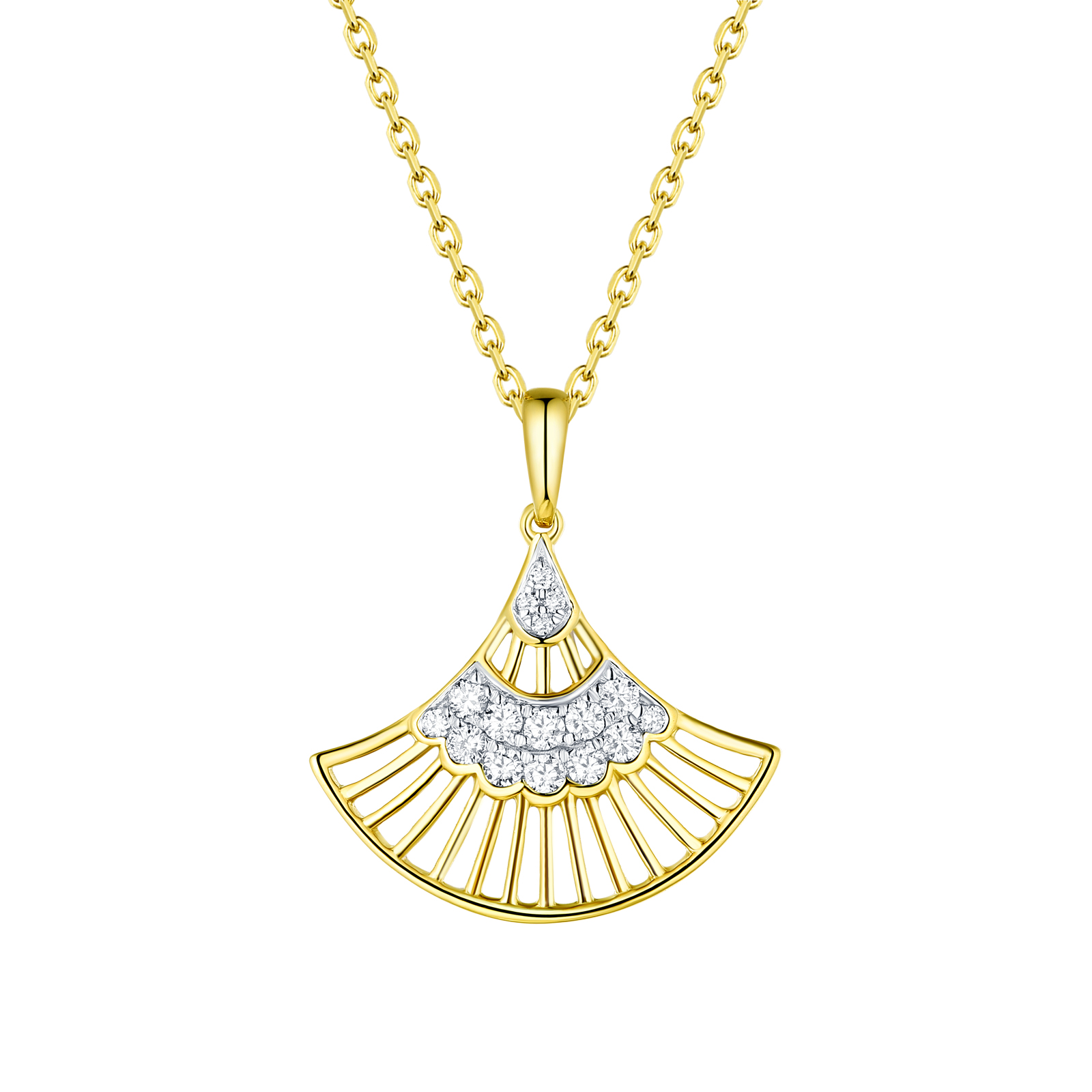 P29906WHT- 14K Yellow Gold Diamond Pendant, 0.20 TCW
