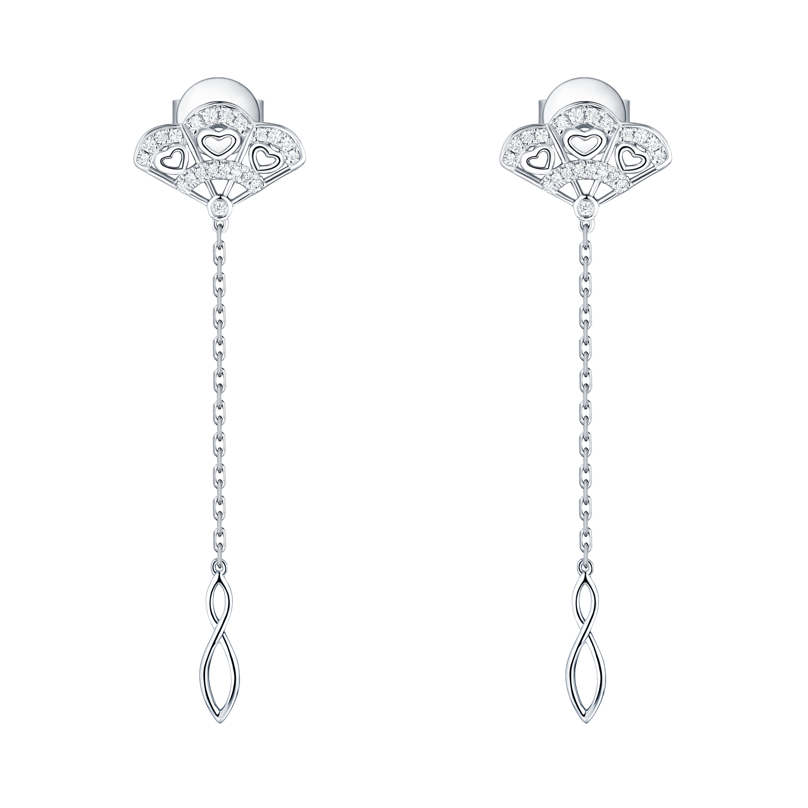 E29926WHT- 14K White Gold Diamond Earrings, 0.17 TCW