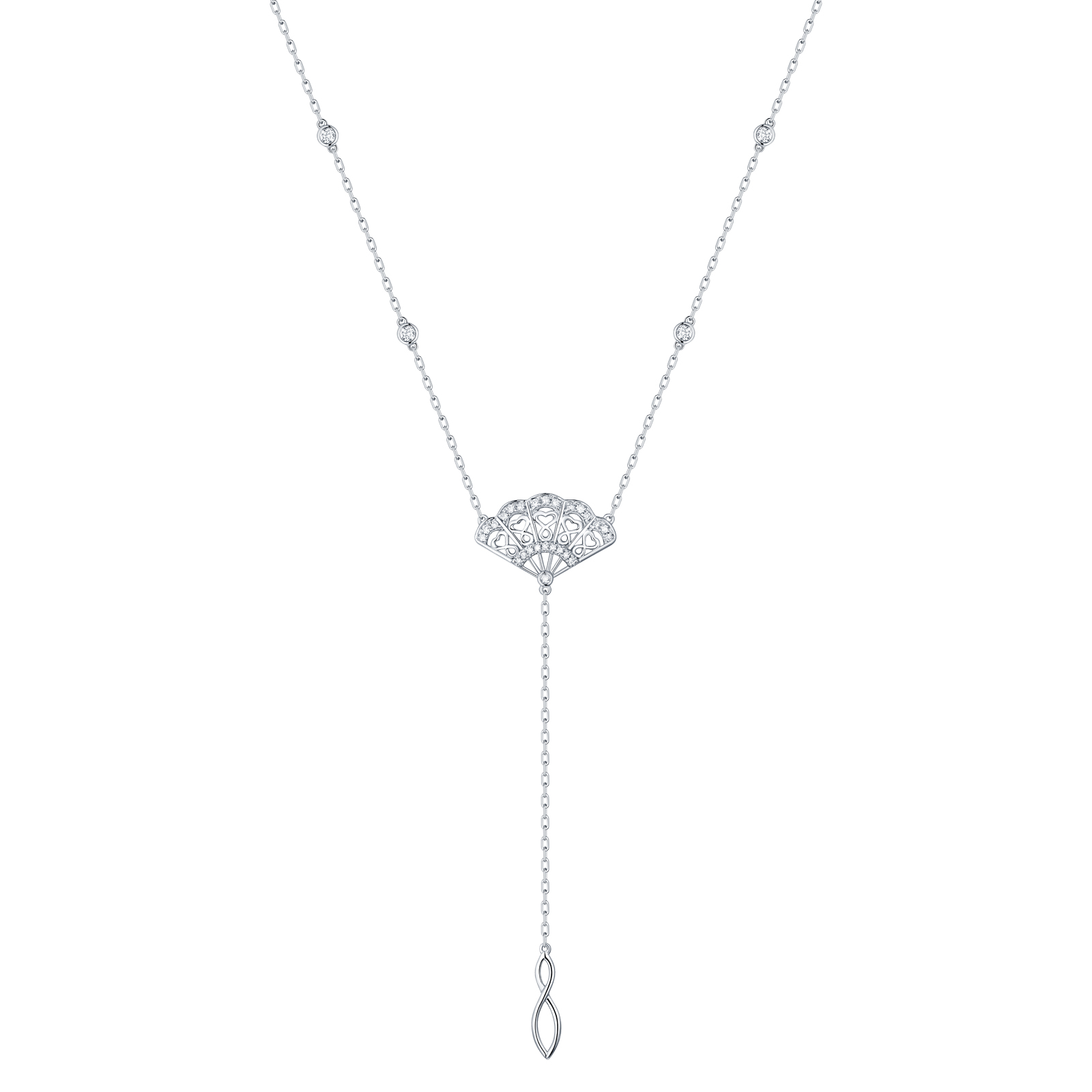 NL29927WHT- 14K White Gold Diamond Necklace, 0.23 TCW