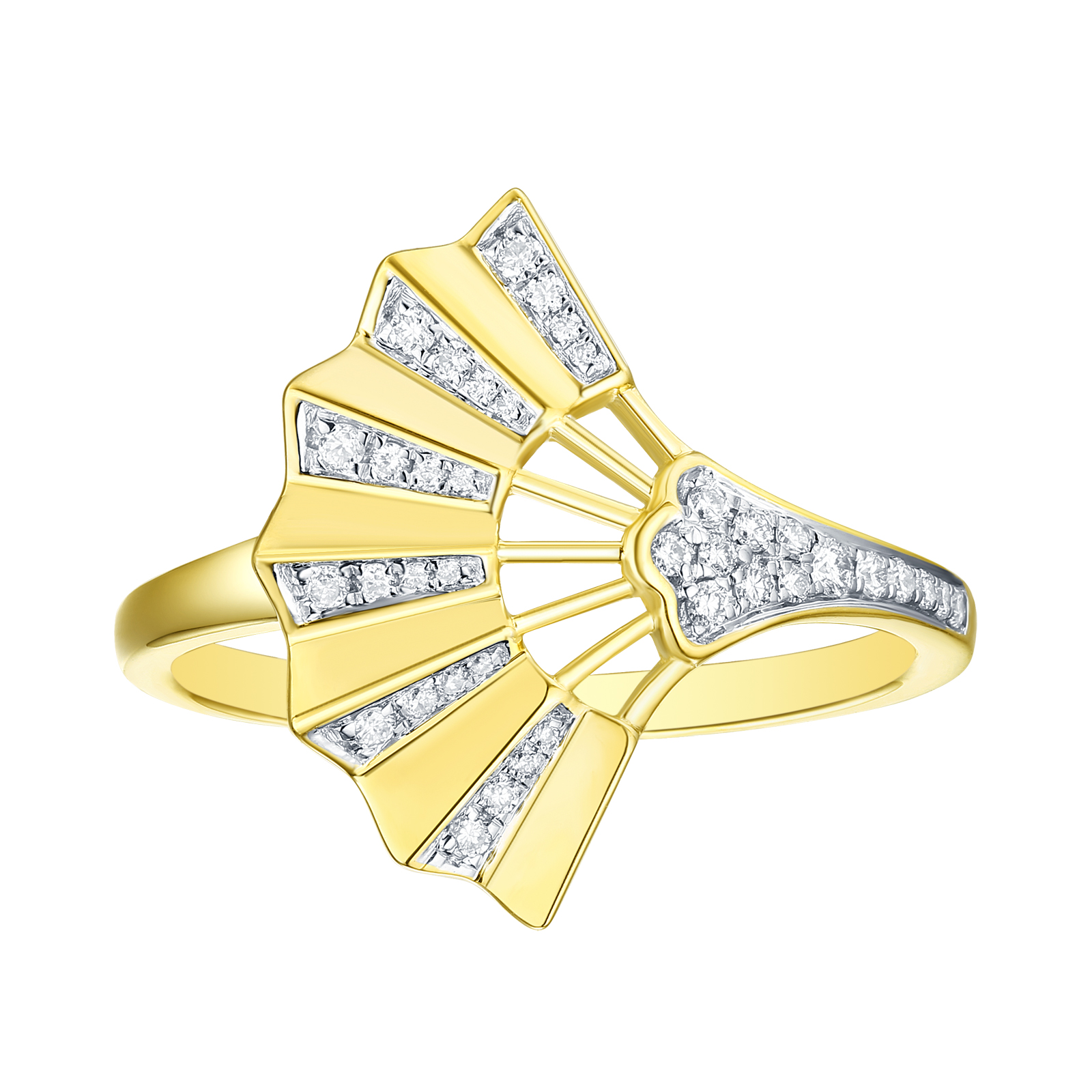 R29924WHT- 14K Yellow Gold Diamond Ring, 0.15 TCW