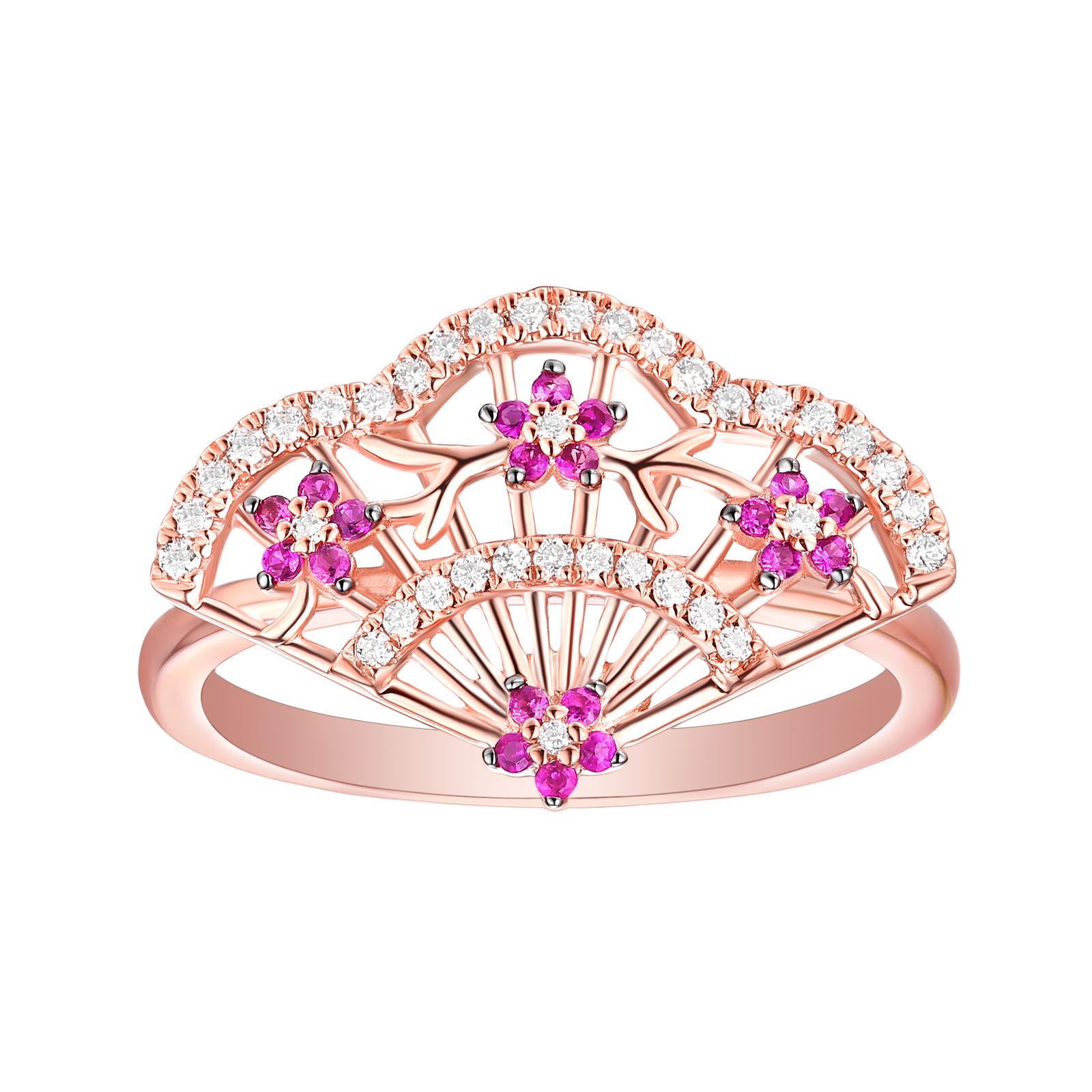 R29849WRB- 14K Rose Gold Diamond Ring, 0.26 TCW