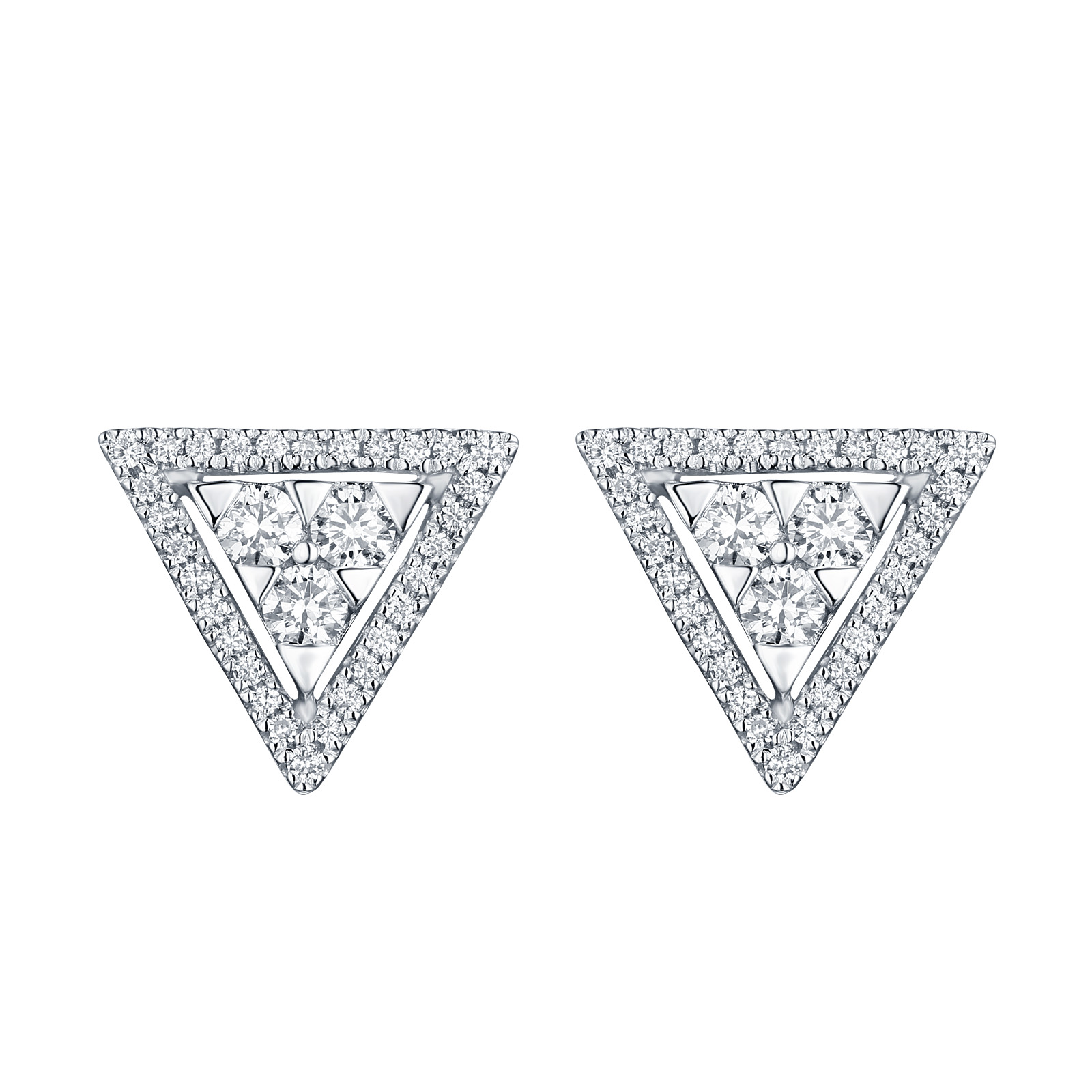 E25208WHT- 14K White Gold Diamond Earrings, 0.50 TCW