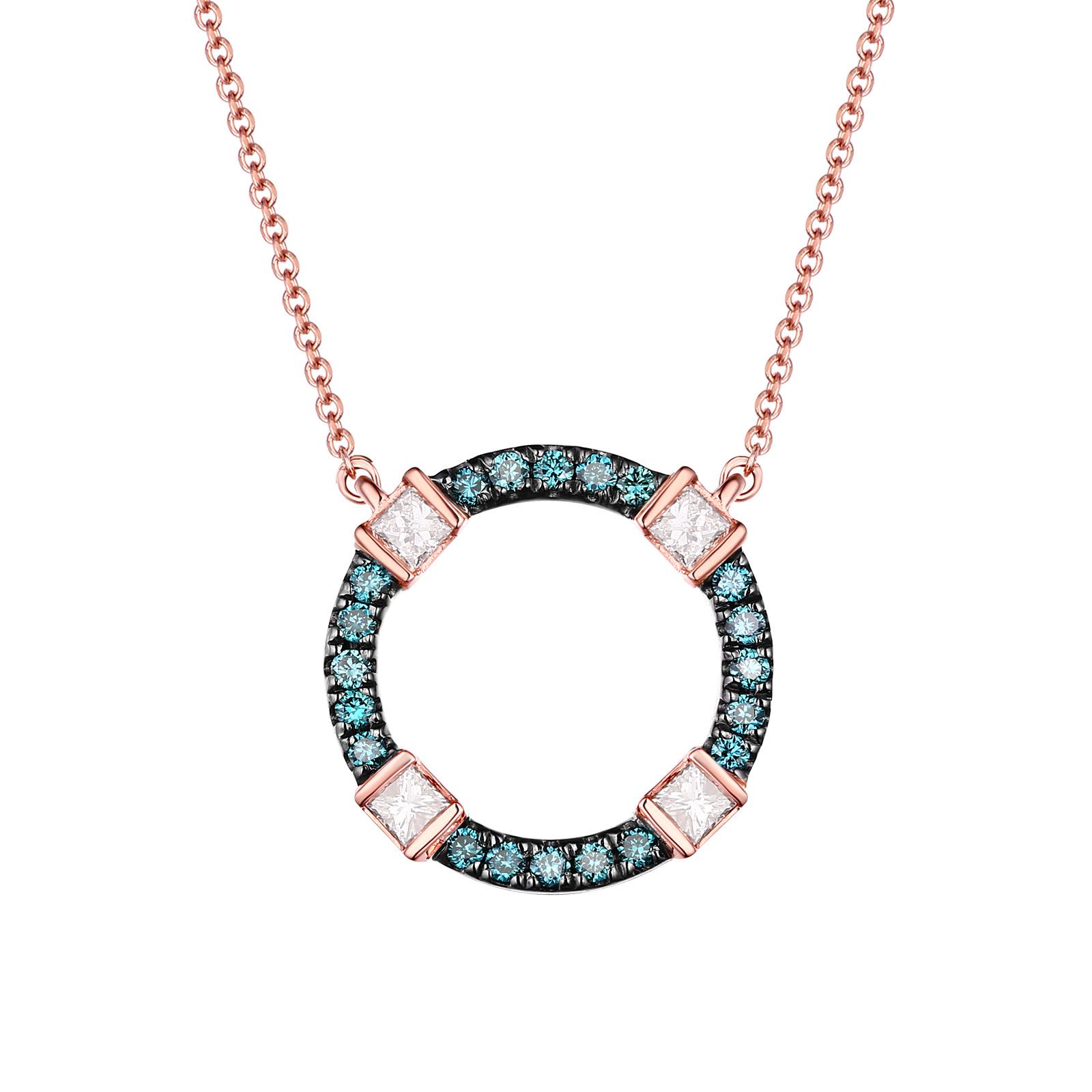 NL24920WIC- 14K Rose Gold Diamond Necklace, 0.31 TCW