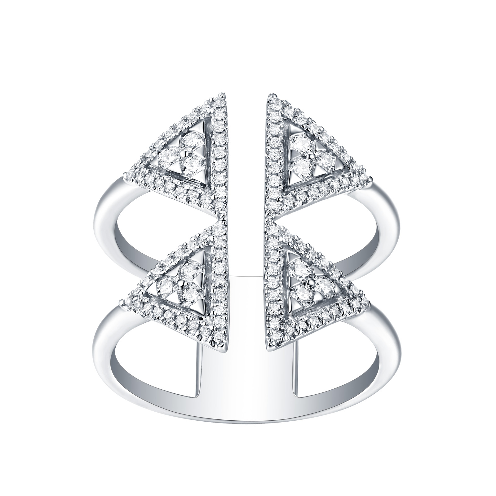 R25082WHT- 14K White Gold Diamond Ring, 0.42 TCW