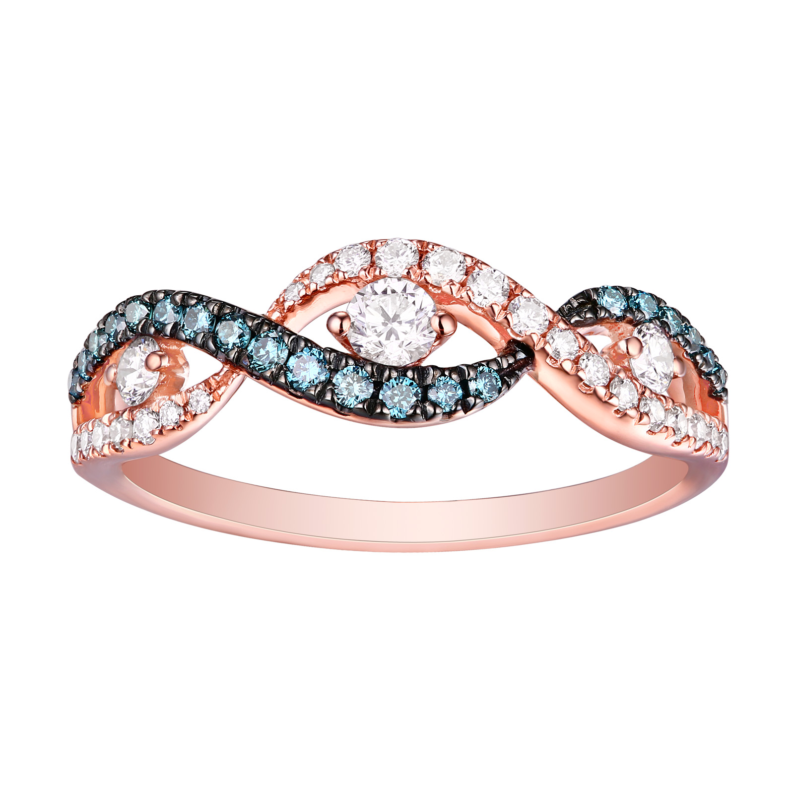 R26224WIC- 14K Rose Gold Diamond Ring , 0.46 TCW