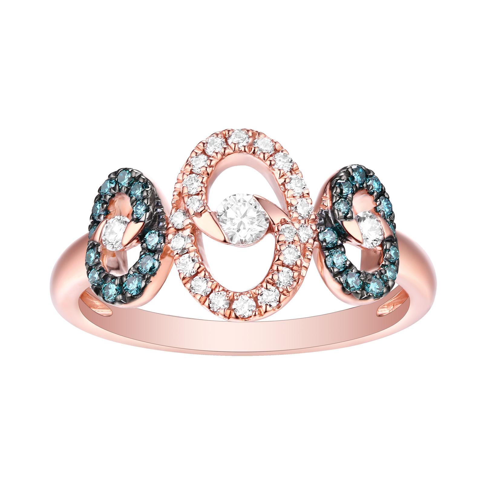 R26575WIC- 14K Rose Gold Diamond Ring, 0.42 TCW