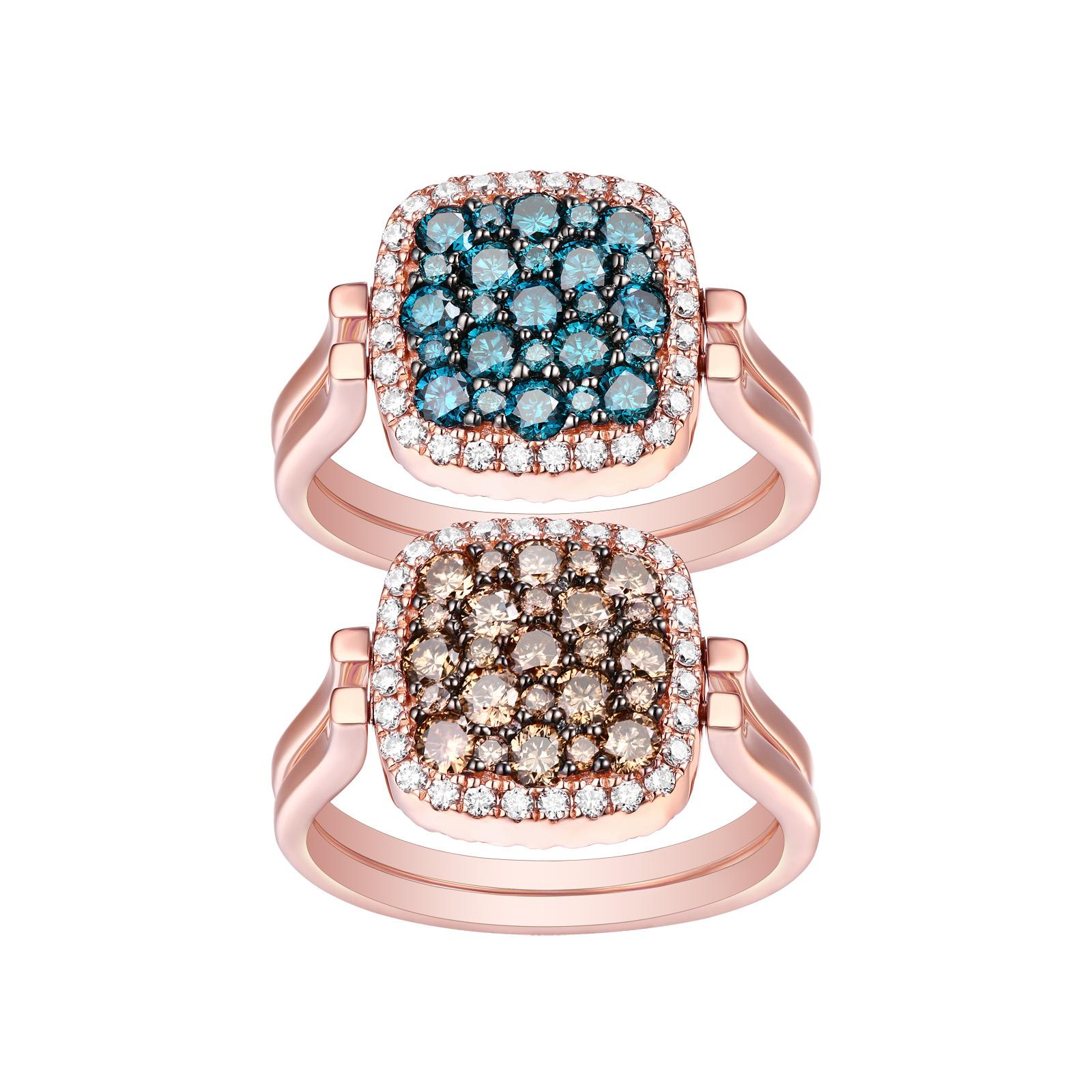 R26668DLW- 14K Rose Gold Diamond Ring, 1.76 TCW