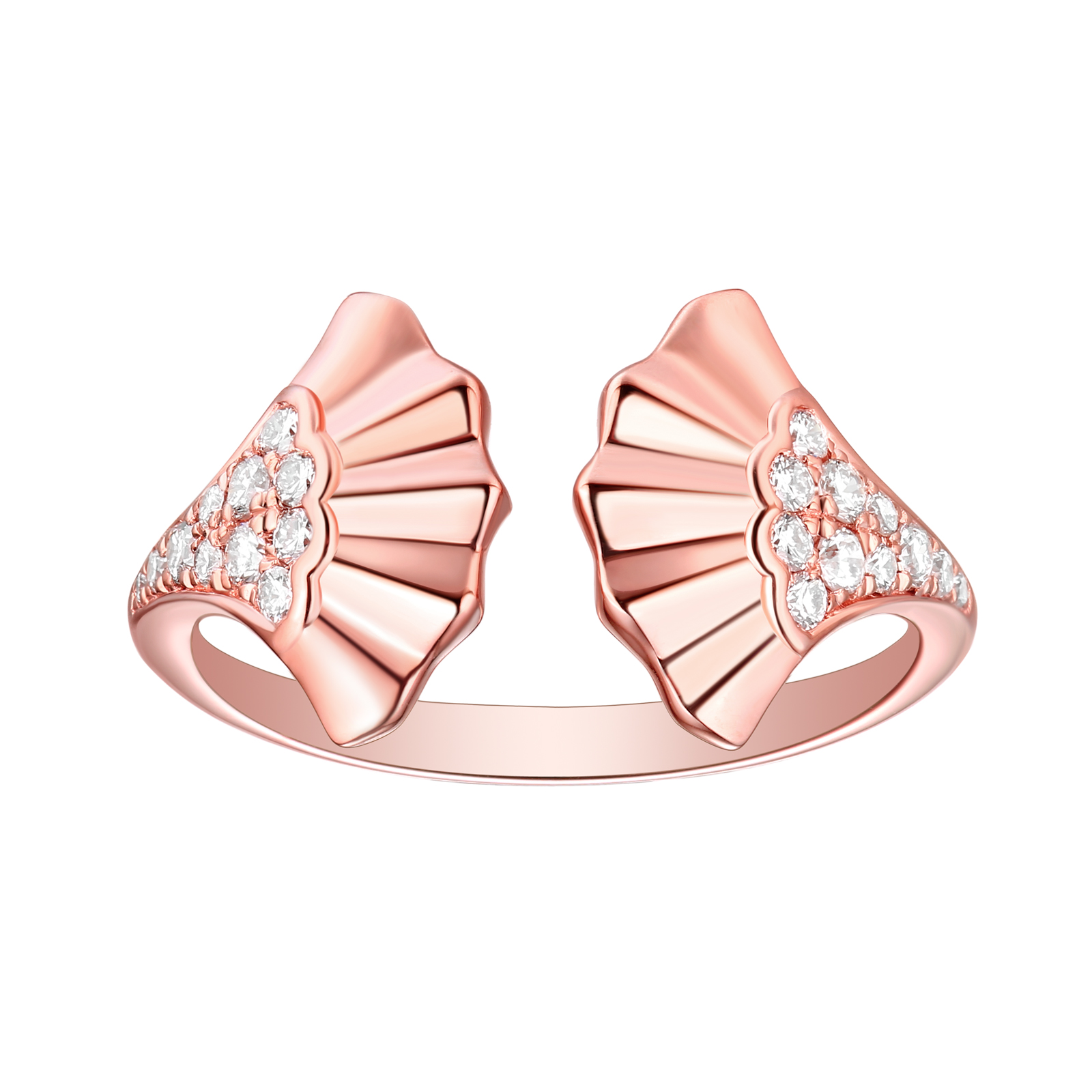 R29922WHT- 14K Rose Gold Diamond Ring, 0.25 TCW