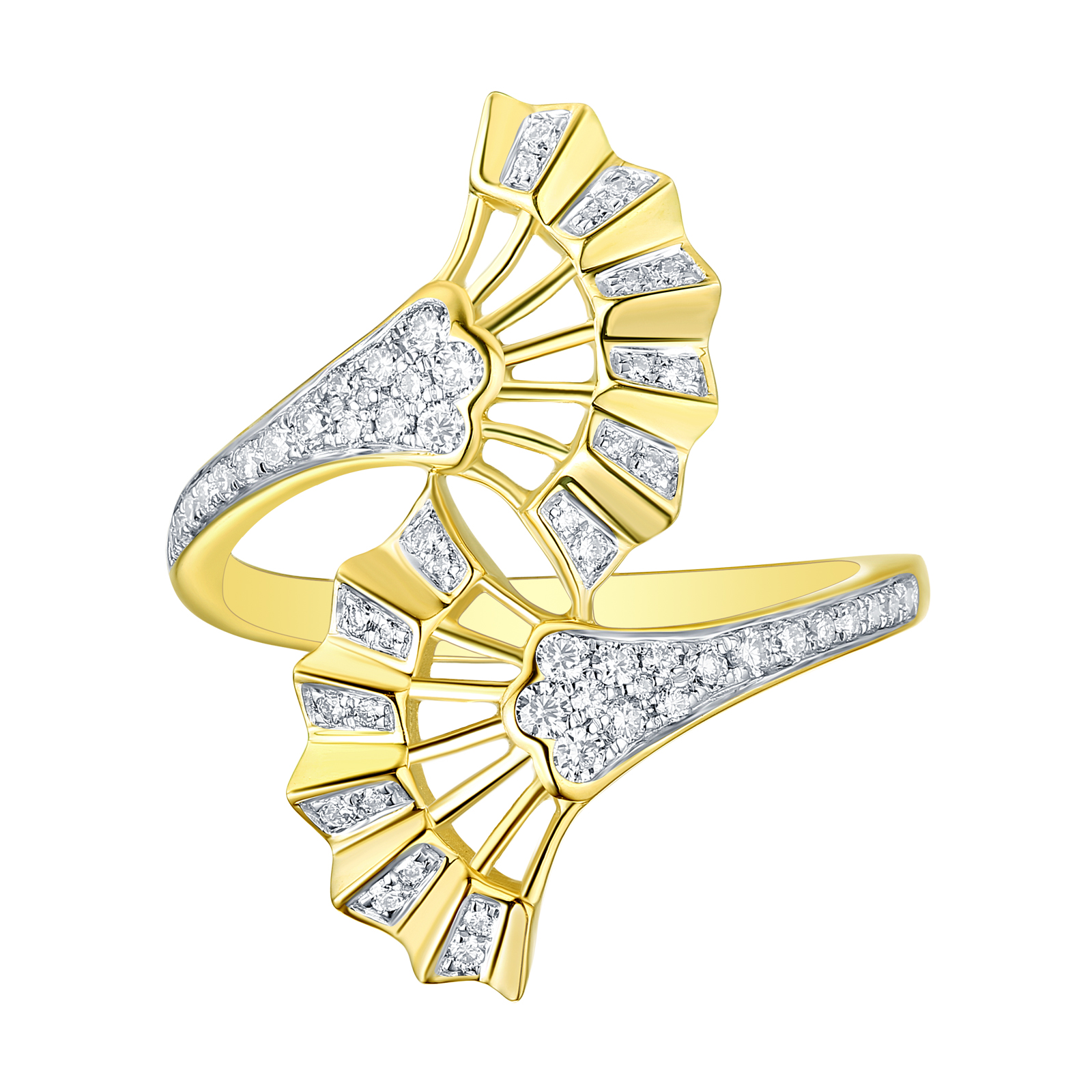 R29925WHT- 14K Yellow Gold Diamond Ring, 3.81 TCW