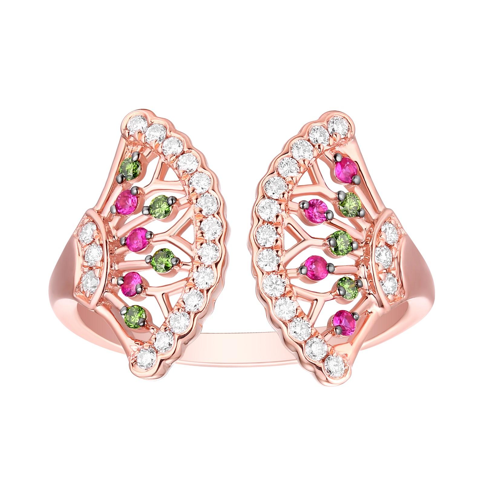 R29901GRW- 14K Rose Gold Diamond Ring, 0.40 TCW